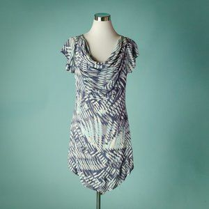 Hype 10 Blue Printed Strappy Back Dress